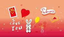 Holidays Poster For Valentine S Day. Stock Photos