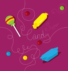 Free Candy Vector Pattern Royalty Free Stock Images - 28739199
