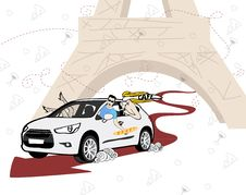 Free Illustration Of Car, Travel And People. Royalty Free Stock Photography - 28739207