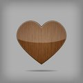 Free Vector Wooden Heart. Stock Image - 28740761
