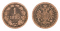Free Old Copper Coin Isolated Stock Photo - 28746900