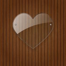 Free Vector Glass Heart. Stock Photos - 28740763