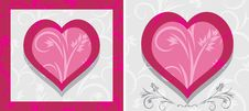 Free Ornamental Hearts. Two Icons Stock Photos - 28740863