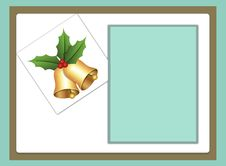 Free Blank Template For Christmas Greetings Card Royalty Free Stock Photography - 28742227