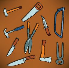 Free Tools Icons Stock Photo - 28742850