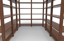Free Wooden Shelving Royalty Free Stock Photo - 28743125