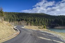 Curved Road At Mountain Royalty Free Stock Images