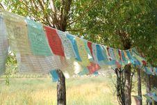 Free Tibet Prayer Flags Royalty Free Stock Photo - 28744295