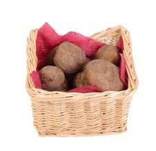 Free Potatoes Tubers In A Basket Stock Photography - 28746232