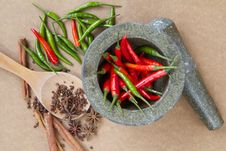 Free Red And Green Chili With Spice Royalty Free Stock Image - 28748016
