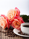 Free Flowers, Cup Of Coffee Stock Images - 28750044