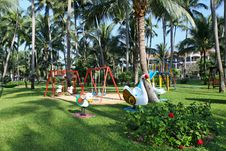 Free Children S Playground At Tropics Stock Photo - 28750970