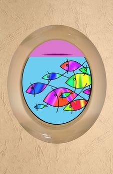 Free Fish Porthole Royalty Free Stock Photo - 28752465