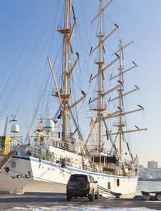 Free Sailing Vessel At The Mooring Royalty Free Stock Photos - 28756088