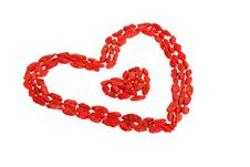 Goji Berries Heart Shaped On White Royalty Free Stock Images