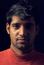 Free Portrait Of Young Indian  Man Over Dark Stock Photos - 28760153