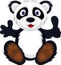 Free Baby Panda With Thumb Up Stock Photo - 28761850