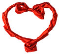 Free Red Silk Heart Royalty Free Stock Photos - 28762728