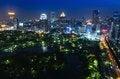 Free Bangkok City Night View Royalty Free Stock Photography - 28767367
