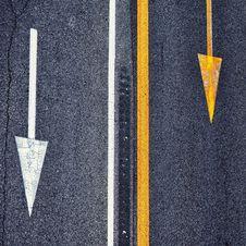 Free Street Asphalt Sign Arrows Stock Photo - 28760780