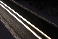 Free Road At Night Stock Image - 28760861