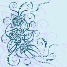 Free Floral Background With Custom Text Space Stock Image - 28761121