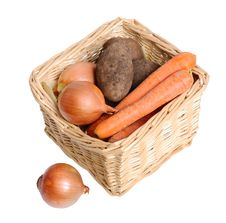 Free Basket With Vegetables Royalty Free Stock Photos - 28761898