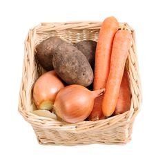 Free Basket With Vegetables Stock Image - 28761911