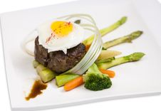 Free Steak With Eggs Royalty Free Stock Photography - 28762787