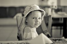 Free Baby In A Hat Royalty Free Stock Image - 28767016