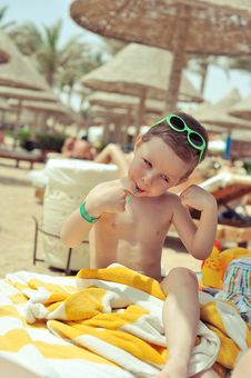 Free Boy On The Beach Stock Photos - 28767293