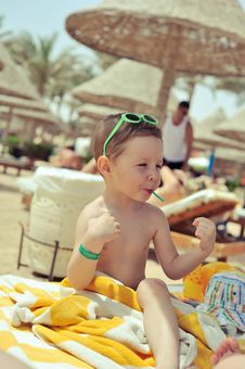 Free Boy On The Beach Stock Photos - 28767313