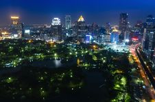 Free Bangkok City Night View Royalty Free Stock Photography - 28767367