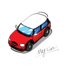 Sketch Car Hand Drawn Royalty Free Stock Photos