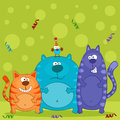 Free Funny Cats And Bird Vector Stock Photos - 28771143