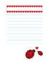 Free Valentines Background Ladybugs Stock Photo - 28777650