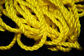 Free Yellow Rope On Black Background Stock Image - 28779141