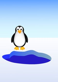 Free Cute Penguin Cartoon Royalty Free Stock Photos - 28770118