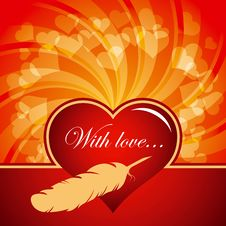 Valentines Day Vector Card Royalty Free Stock Images