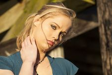 Free Young Woman With Beautiful Blue Eyes Stock Images - 28771254