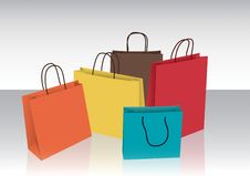 Free Colorful Shopping Bags Royalty Free Stock Images - 28771499