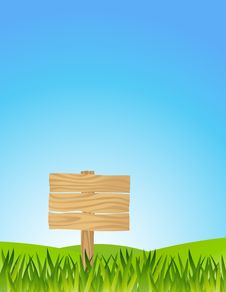 Free Grass With Blank Sign Stock Photos - 28772263