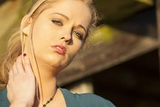 Free Young Woman With Beautiful Blue Eyes Stock Images - 28774584
