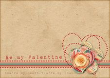 Free Be My Valentine. Retro Card Stock Images - 28775114