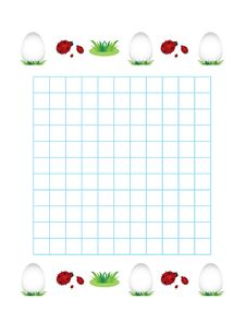 Free Sheet In A Cage With Ladybirds And Eggs Royalty Free Stock Photography - 28777647