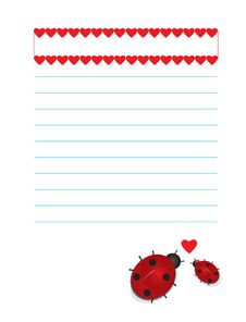 Valentines Background Ladybugs Stock Photo