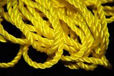 Free Yellow Rope On Black Background Stock Image - 28779141