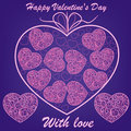 Free Pink Hearts On Blue Background Royalty Free Stock Photos - 28780538