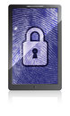 Free Mobile Phone With Fingerprint And Padlock Stock Photography - 28781162