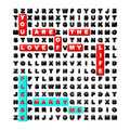 Free Word Search Puzzle Concept For A Wedding Stock Image - 28782051